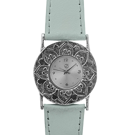 Silver Leather watch