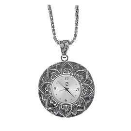 Silver Pendant Watch
