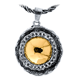 Silver and Gold Pendant